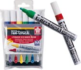 Pen-Touch decomarkers decoratiestiften set 6 kleuren met medium punt (2,0 mm)