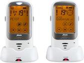 Alecto DBX-68 Outdoor babyfoon met groot bereik | Oplaadbare en draadloze ouder én babyunit, ideaal voor buiten | Wit / Zilver