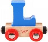 Bigjigs - Rails - Naamtrein - Letter L - Oranje