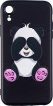 iPhone XR ondeugende panda - zwart hoesje