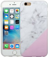 iParts4u Marmer iPhone 6 / 6S Hoesje Siliconen Marble Roze