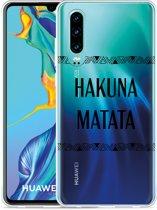 Huawei P30 Hoesje Hakuna Matata black