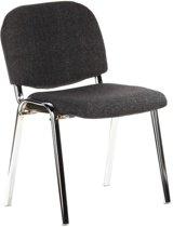 hjh office XT 600 - Bureaustoel - Conferentiestoel - Bezoekersstoel - Grijs / chroom