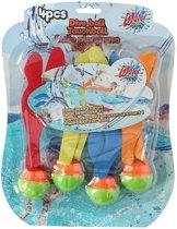 Zwembad duikballetjes 4 stuks - Gekleurde duikballetjes - Speelgoed duikballen