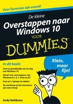 Voor Dummies - De kleine overstappen naar Windows 10 voor Dummies
