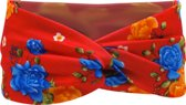 Twist Haarbandje - Rood & Bloemen