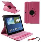 Hard Roze 360 graden draaibare tablethoes Galaxy Note 10.1 2014 Edition