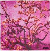Emilie Scarves Cashmere sjaal  Van Gogh Amandelbloesem - roze - Gift