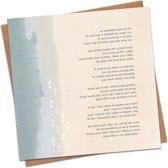 Christelijke Kaart - Gedicht Voetstappen in het Zand - DagelijkseBroodkruimels