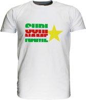 Suriname Vlag T-Shirt met Ster Zwart / Wit / Grijs / Blauw / Groen