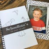 Schoolfotoboek - invulboek - Mijn schoolfoto's - zwart wit - Dieren - wire-O