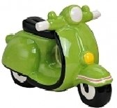 Spaarpot scooter groen 20 cm