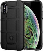 Full Coverage Shockproof TPU Case voor iPhone XS Max (zwart)