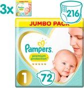 Pampers Premium Protection Luiers - Maat 1 (2-5 kg) - 216 stuks