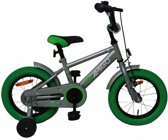 Amigo Sports - Kinderfiets - Jongens - Grijs;Groen - 14 Inch