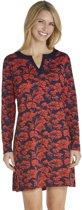 Coolibar UV strandjurkje Dames - Donkerblauw/Rood - Maat 42