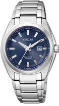Citizen Super Titanium - Horloge - Titanium - 34 mm - Zilverkleurig / Blauw - Solar uurwerk