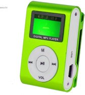 Mini clip MP3 speler FM radio met display Groen en