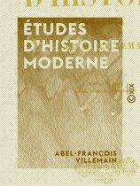 Études d'histoire moderne