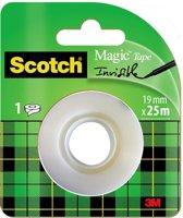 Scotch® Magic™ Tape, Navullingen, 19 mm x 25 m, 1 Rol/Kaart