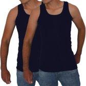 2 stuks Bonanza hemd - Regular - Donkerblauw - M/L