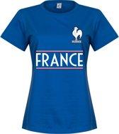 Frankrijk Dames Team T-Shirt - Blauw - S