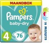 Pampers Baby-Dry Luiers - Maat 4 - 9 tot 14kg - 76 Stuks