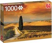 Zonsondergang in Toscane Premium Quality - Puzzel 1000 stukjes