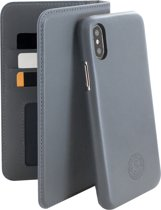 Serenity 2 in 1 Leather Wallet Case Apple iPhone X/XS Discrete Grey