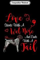 Composition Notebook: My German Shorthair Pointer Dog Is My Valentines Day Journal/Notebook Blank Lined Ruled 6x9 100 Pages