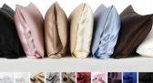 Zijden kussensloop, sneeuw wit, 60x70cm, housewife-style 100% zijde, 405thread count(19momme)