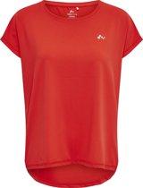 Only Play Ubree Loose Training Tee Dames Sporttop - Flame Scarlet - Maat M