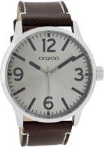 OOZOO Timepieces C7407 - Horloge - 40 mm - Leer - Bruin