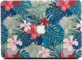 Lunso - cover hoes - MacBook Air 13 inch (2010-2017) - Tropical leaves red