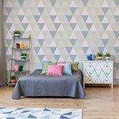 Fotobehang Modern Geometric Triangle Pattern   VEXXXL - 416cm x 254cm   130gr/m2 Vlies