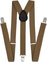 Fako Fashion® - Bretels - Effen - 100cm - Khaki