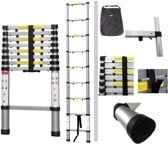Telescopische Ladder - 17 treeds - Werkhoogte 5,00 m