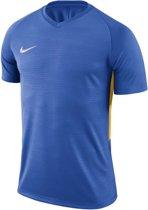 Nike Tiempo Premier SS Jersey  Sportshirt - Maat 128  - Unisex - blauw/geel Maat S-128/140