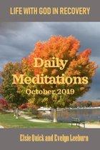 DAILY MEDITATIONS - October 2019
