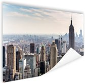 New York City Skyline Poster 150x75 cm - Foto print op Poster (wanddecoratie woonkamer / slaapkamer) / Steden Poster