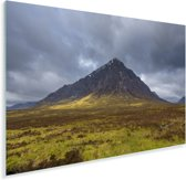 Donkere wolken boven de berg in Glen Coe Plexiglas 180x120 cm - Foto print op Glas (Plexiglas wanddecoratie) XXL / Groot formaat!