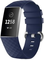 Siliconen Horloge Band Voor Fitbit Charge 3 - Armband / Polsband / Strap / Sportband - Small - Blauw