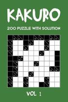 Kakuro 200 Puzzle With Solution Vol 1