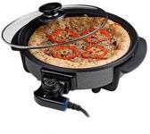 Cuisinier - Hapjespan - Elektrisch - Pizzapan - 40cm (deksel)