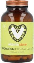 Vitaminstore - Magnesium Citraat - 120 tabletten - Draagt bij aan het verminderen van vermoeidheid, botopbouw en normale functie van spieren
