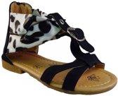 Redjin sandalet panterprint zwart maat