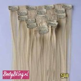 Clip in hairextensions 7 set straight blond - 613#