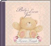 Baby's eerste Jaar Forever Friends - Dagboek - Roze - Strik - 21 x 19 x 2 cm