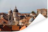 Uitzicht vanaf de stadsmuren Dubrovnik Poster 180x120 cm - Foto print op Poster (wanddecoratie woonkamer / slaapkamer) XXL / Groot formaat!