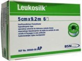 Leukosilk Hechtpleister - 9,2 m x 5,00 cm - 6 Stuks